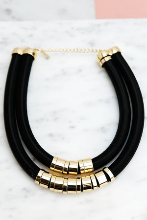 Huron Rope & Metal Necklace - Haute & Rebellious