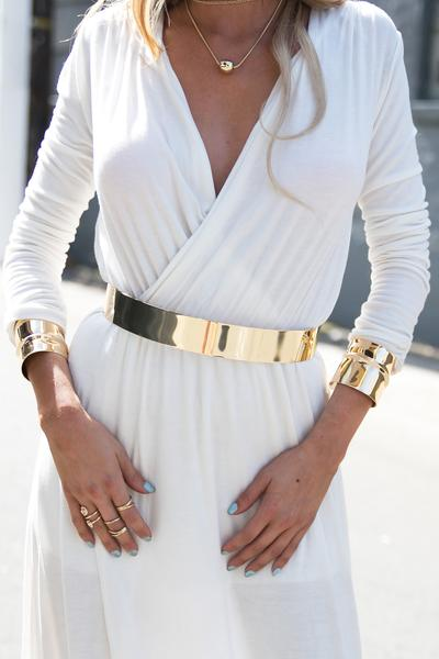 Solid Gold Plated Belt