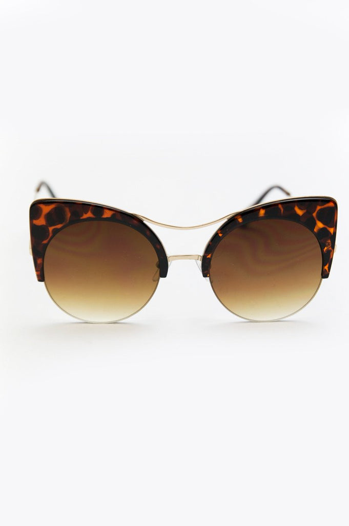 Got Me Moving Sunglasses - Tortoise Shell