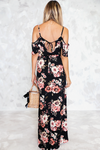 Floral Ruffle Off-Shoulder Maxi - Haute & Rebellious