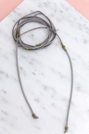 Wrapped Around Choker - Grey - Haute & Rebellious