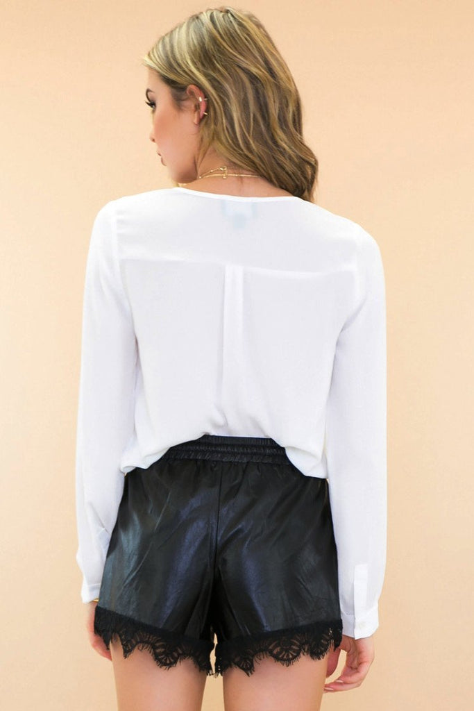 Ettro Sheer Dressy Blouse - White - Haute & Rebellious