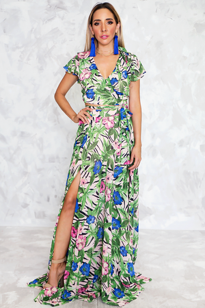 Cabana Cafe Palm Print Set - Haute & Rebellious