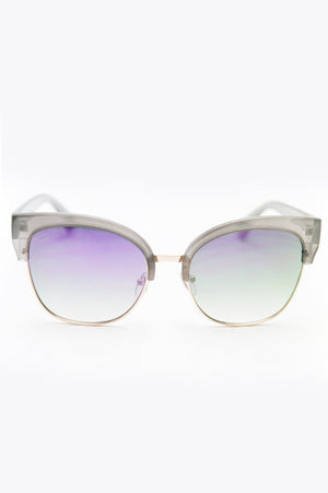 I Feel it Fade Sunglasses - Grey/Purple - Haute & Rebellious