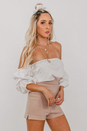 Off-Shoulder Top - White