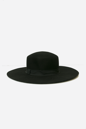 Floppy Brim Wool Hat