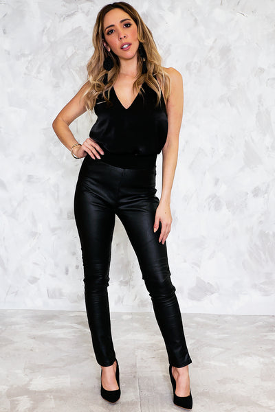 Split Decision Leather Legging Pant