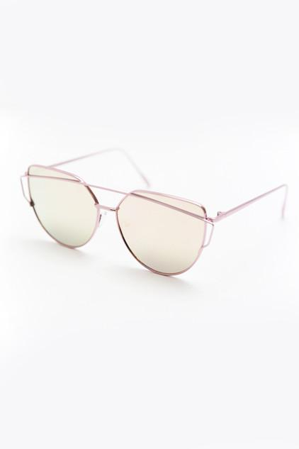 Coming After You Sunglasses - Rose Gold
