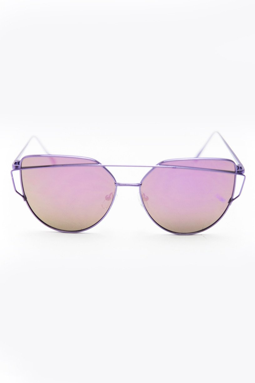 Coming After You Sunglasses - Violet - Haute & Rebellious