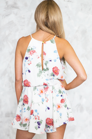 Floral Sleeveless Romper /// Only 1-S Left /// - Haute & Rebellious