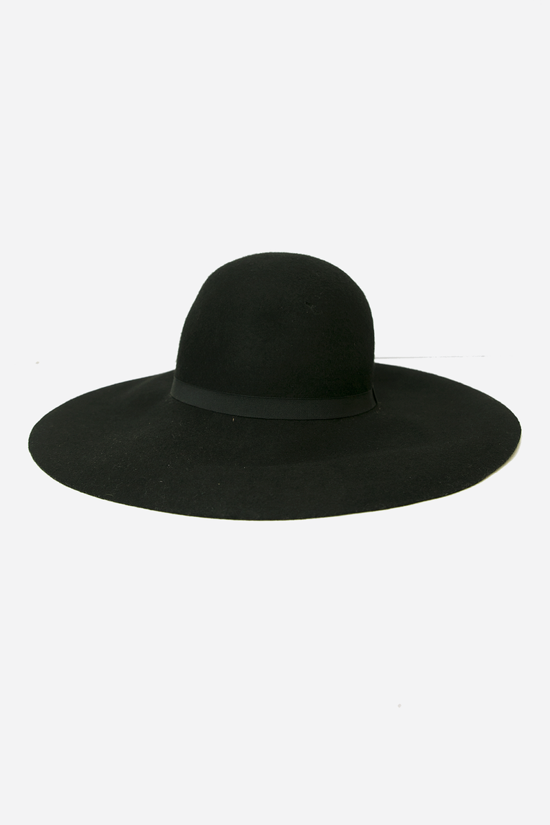 Floppy Circular Crown Wool Hat