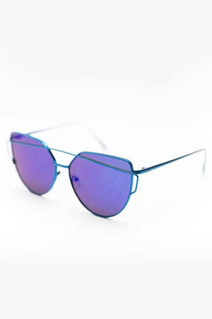 Coming After You Sunglasses - Blue - Haute & Rebellious