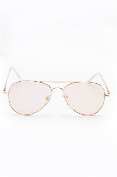 Anything Blush Aviator Sunglasses - Haute & Rebellious