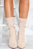 Walk The Talk Sock it Booties - Nude