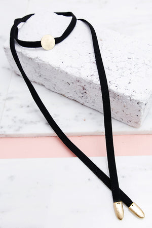 End of the Road Tie Choker - Haute & Rebellious