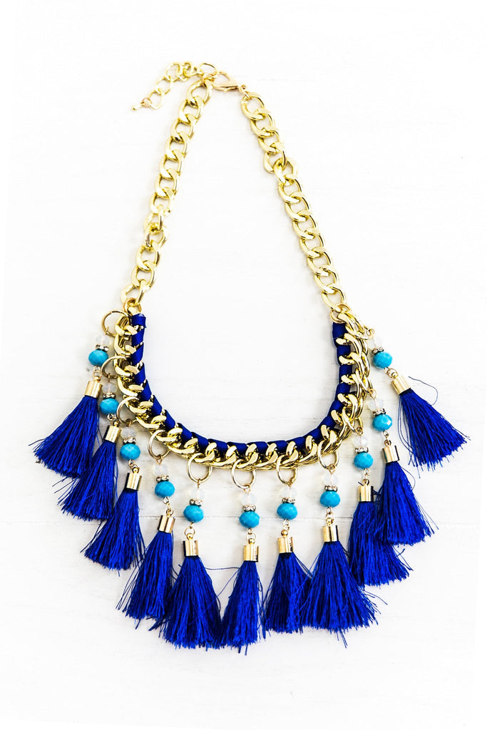 Jeddah Pom Fringe Necklace - Haute & Rebellious