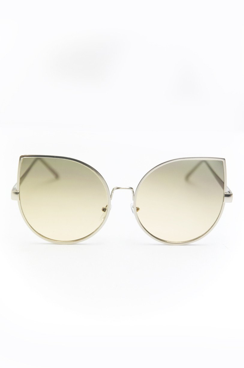 Half Way There Sunglasses - Silver/Nude - Haute & Rebellious