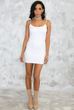 Don't Be Long Camisole Dress - White