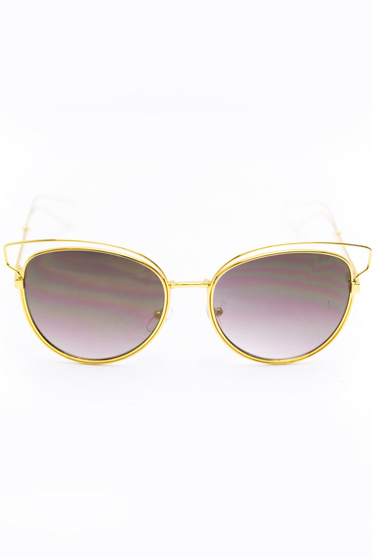 Set You Free Sunglasses - Gold - Haute & Rebellious