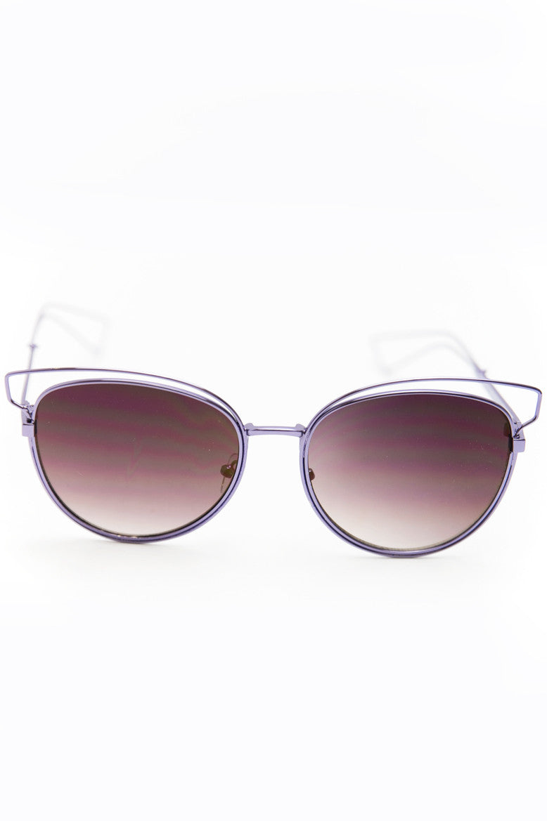 Set You Free Sunglasses - Violet - Haute & Rebellious