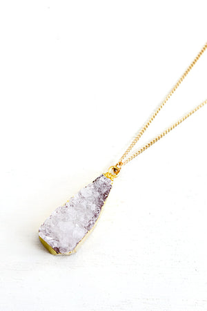 Earth Stone Pendant Necklace - Haute & Rebellious