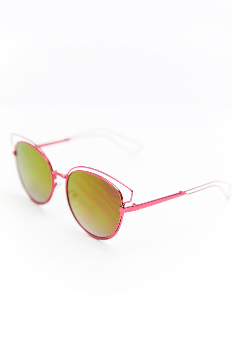 Set You Free Sunglasses - Fuchsia - Haute & Rebellious
