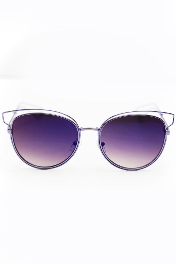 Set You Free Sunglasses - Purple - Haute & Rebellious