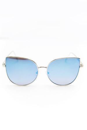 Can't Stop This Feeling Sunglasses - Silver/Blue - Haute & Rebellious