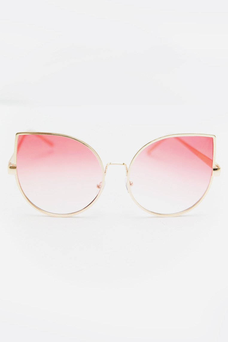 Half Way There Sunglasses - Gold/Blush - Haute & Rebellious