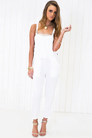 Derick Basic Overall - White - Haute & Rebellious