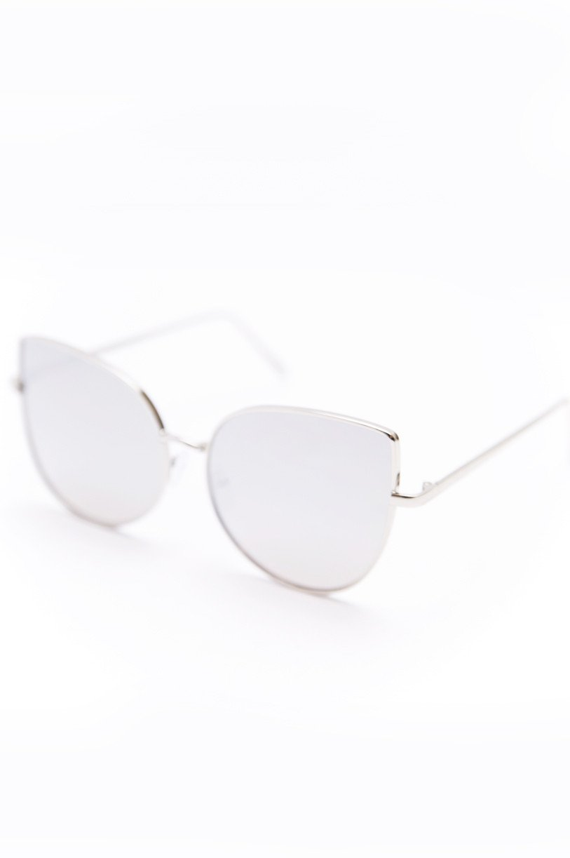 Can't Stop This Feeling Sunglasses - Silver - Haute & Rebellious