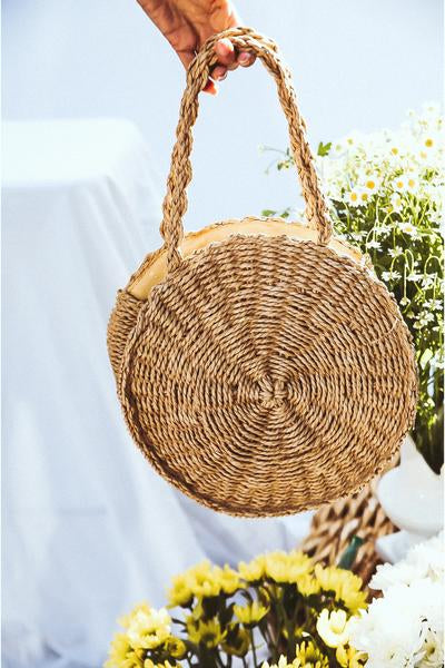 Circle Handle Basket Bag