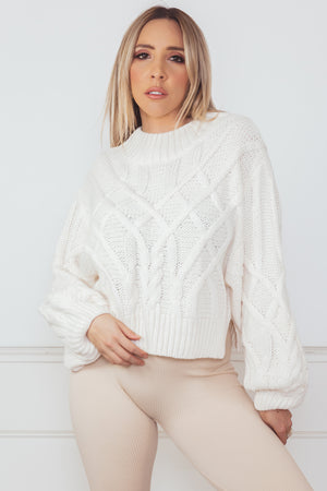 Cable Knit Sweater - Cream