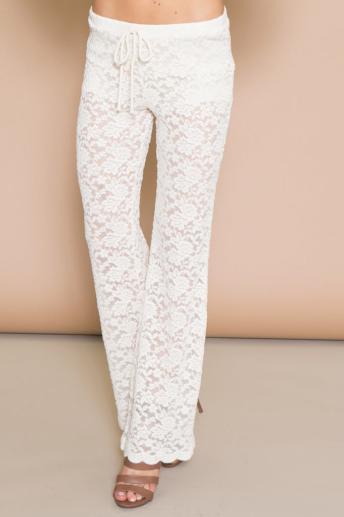 WINLOW LACE BELL BOTTOM PANT