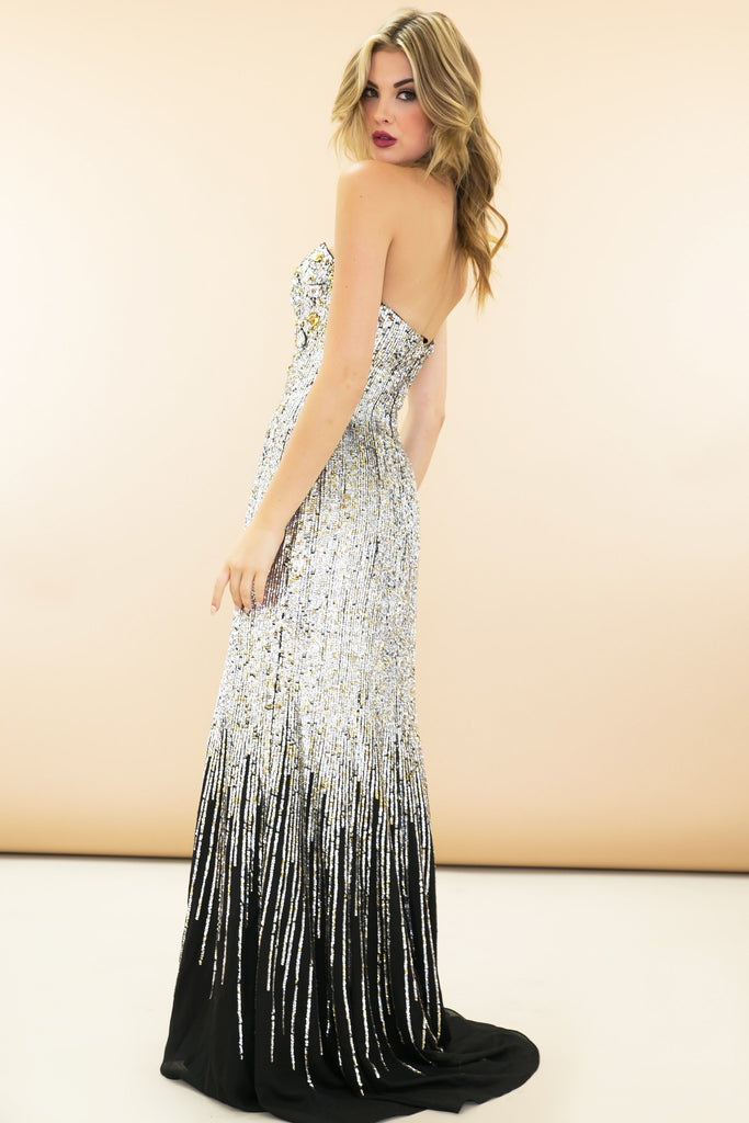 Red Carpet Sequin Maxi Dress - Haute & Rebellious