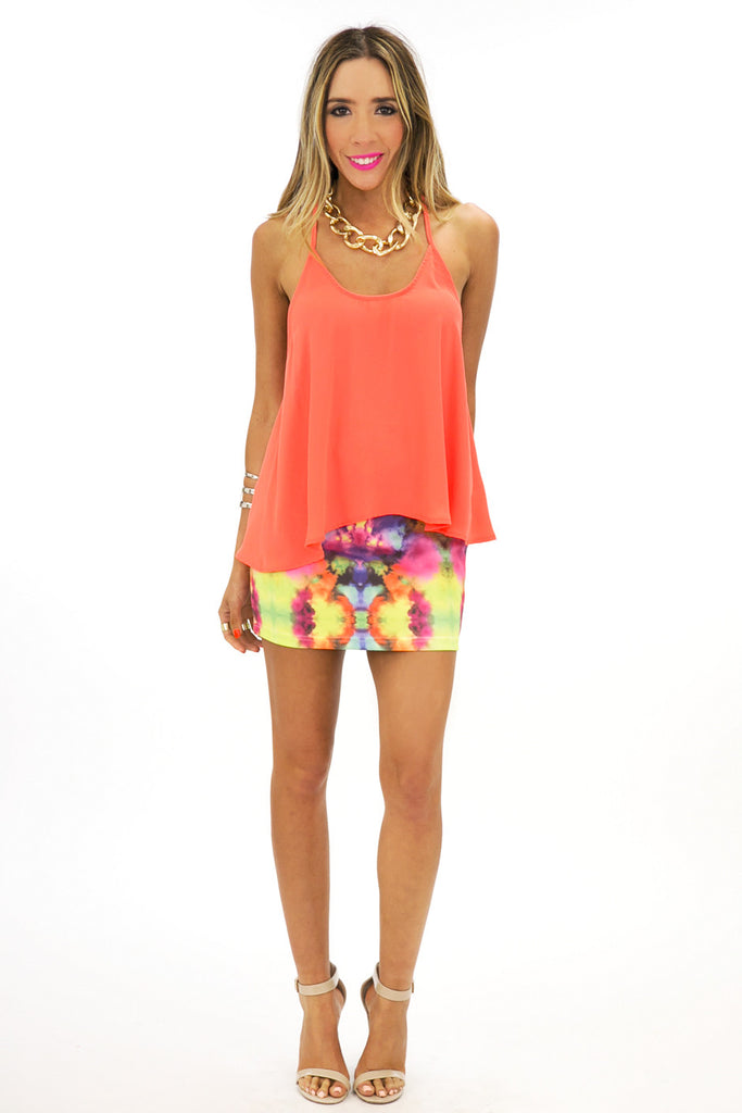 T-BACK CHIFFON TOP - Corange