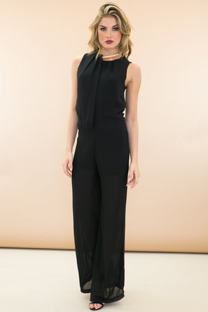 Elani Sleeveless Dressy Jumpsuit - Haute & Rebellious