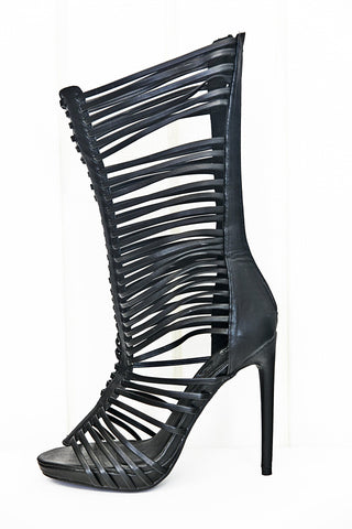 Nyla Strappy Sandal Heel - Black /// Only Size 8.5 & 9 Left ///