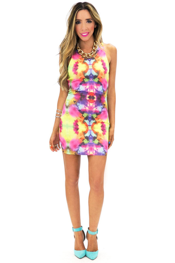 INK DROP PRINTED DRESS