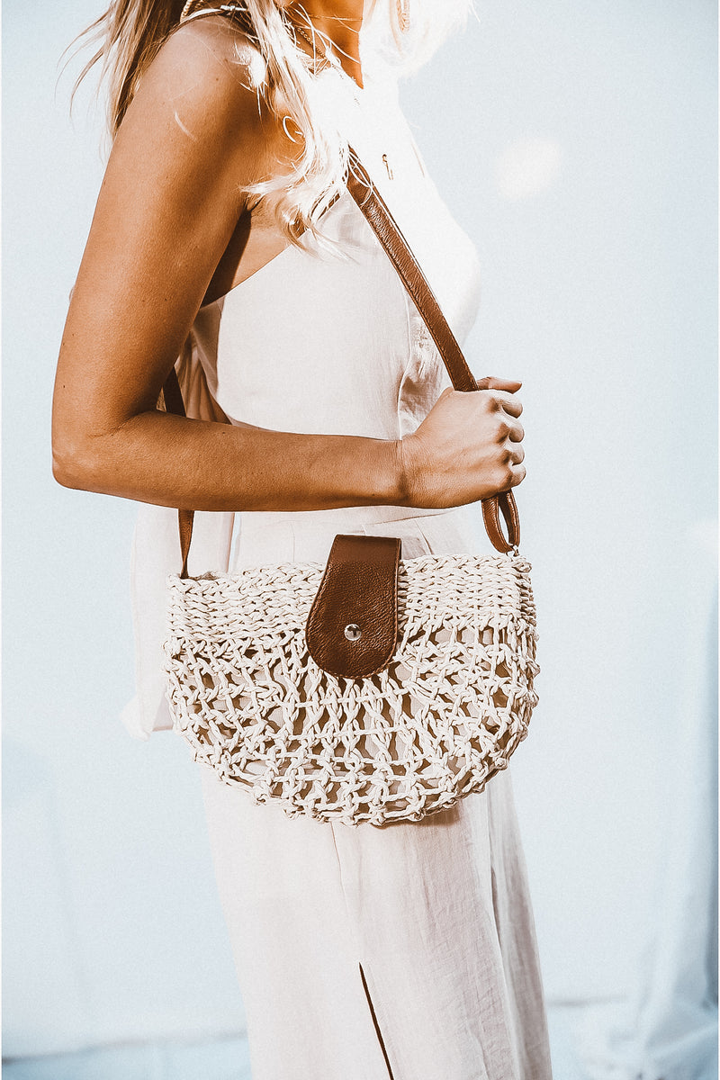 Crossbody Basket Bag - Natural