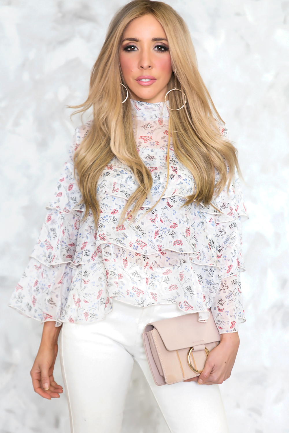 Ruffle Layered Floral Top - Haute & Rebellious
