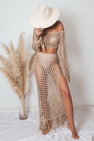 Crochet Top and Skirt Set