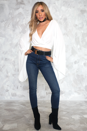 Taking Over Kimono-Sleeve Wrap Blouse /// Only 1-M Left /// - Haute & Rebellious