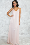 Satin Slip Maxi Dress - Soft Blush