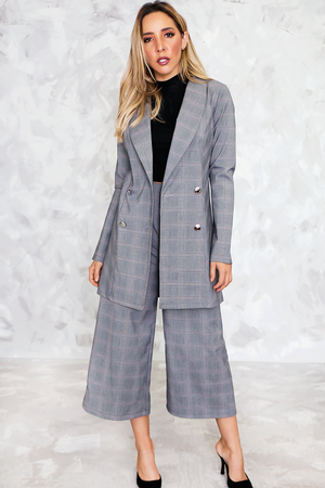 Plaid Dress Culotte Pant - Haute & Rebellious