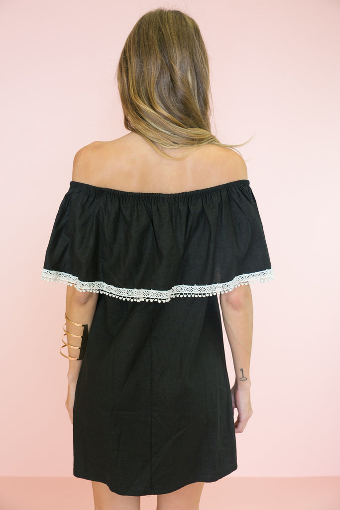 Positano Off-Shoulder Dress