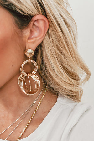 Statement Dangle Circle Earring