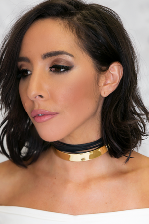 Plated & Leather Rope Choker - Haute & Rebellious