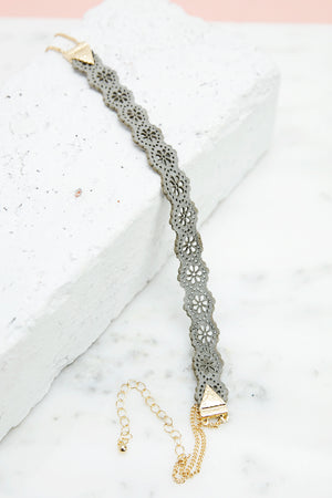 Not So Classic Choker - Grey - Haute & Rebellious