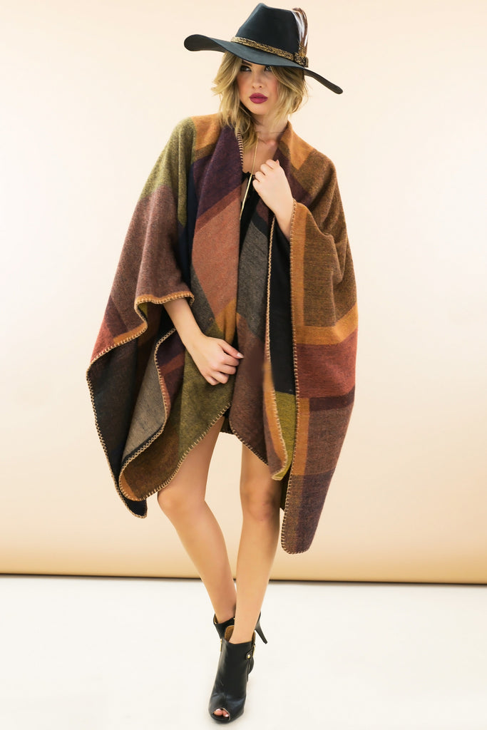 Willow Wool Cape Sweater